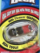 """Tech Deck  Element """"Wind, Fire, Water, Earth """" 4"""" Fingerboard Rare NIB"""