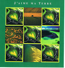 "Bloc, Feuillet 2002 Neuf "" J'aime ma terre """