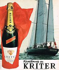 PUBLICITE ADVERTISING 124  1977  KRITTER  vin mousseux   REVEILLONEZ
