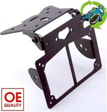 New Motorcycle Number Plate Hanger Bracket inc. Indicator Mounts Black RLTNPT05