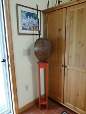 """Listed Artist Peter Charles Metal Wood Sculpture """"Red Table"""" 1984"""