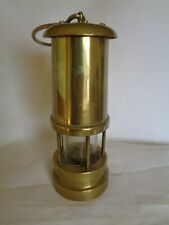 VINTAGE BRASS WELSH MINERS DAVY STYLE LAMP