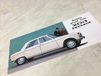 Peugeot 204 berline break grand luxe 1966 catalogue prospectus brochure dépliant