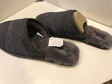 UGG Pure Australia Mens Slippers Size 18 (US) NWOB Gray Wool  Logo Hologram