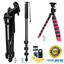 I3ePro Pro Tripod & Monopod Accessory Bundle For Sony,Canon,Nikon Cameras