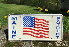 MAINE PATRIOT US Flag Auto Car Plate