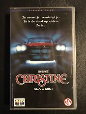 Stephen King Christine Blue Sealed VHS Tape English with dutch subs