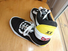 Vans Old Skool,Vans Off The Wall/XX,Size 6,Yellow Back & Red Logo,Nice