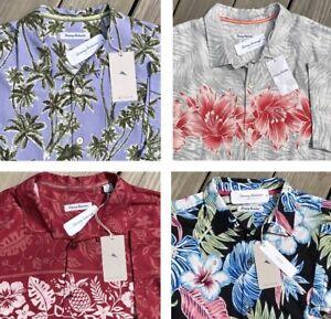 Tommy Bahama Men's Hawaiian Camp Shirts Silk Stretch Linen M L XL XXXL New