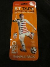 "KT TAPE ELASTIC SPORTS TAPE USA RED 3 10"" PRE-CUT STRIPS SAMPLE PACK BRAND NEW"