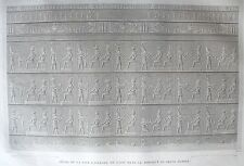 DENDERAIL. (TENTYRIS). (pl. 17, A. vol. IV). Detail de la  .. DESCRIPTION EGYPTE