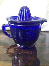 Vintage Cobalt Blue Measuring & Mixing Cup With Juicer Top