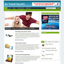 AIR TRAVEL SECRETS BLOG WEBSITE WITH AFFILIATE STORE + FREE DOMAIN AND HOSTING