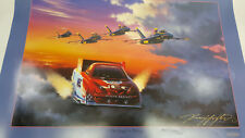 """Kenny Youngblood 20""""X28"""" poster art of On Angel's Wings NAVY BLUE ANGELS Densham"""