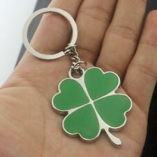 Green Lucky Irish Four Leaved Clover Key Ring Key Chain Ireland Lucky Charm Gift