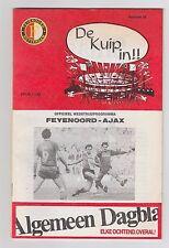 Orig.PRG  1.Liga Niederlande / Eredivisie 1983/84   F.ROTTERDAM - AJAX AMSTERDAM