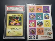 PSA 9 1998 Pokemon Japanese Promo White Star Pikachu Birthday #25 With Stickers