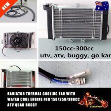 Water Cooled Engine Radiator + Cooling Fan 150/200/250cc ATV Quad Buggy go-kart