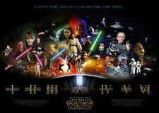 Poster STAR WARS - Guerre Stellari - Manifesto 50x70 !!