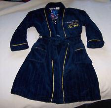 West Coast Eagles AFL Boys Navy Fleece Dressing Gown Size 12 New