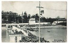 Boat Landing at Crystal Beach Ontario - Litho - Used - Fair - Stamp removed