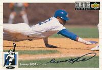 Sammy Sosa 1994 Upper Deck Collector's #263 Silver Chicago Cubs baseball card