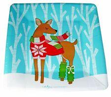 "Design Design 16 Paper Appetizer Dessert Plates Warm Wishes Deer Christmas 7.25"""