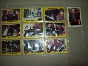 1989 BATMAN SERIES 2 TOPPS -  10 CARD SET