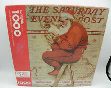 Jigsaw Puzzle SPRINGBOK Santa MAPPING HIS COURSE Norman Rockwell 1000 Piece