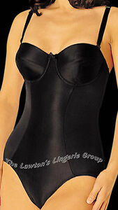 BNWT Miraclesuit 2662,Firm Control, Strapless, Padded Cup Bodies, Black and Nude