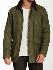 🔥Rare NWT BARBOUR BEDALE SL Slim XL Waxed WOOL Tweed Jacket Olive Green Loden