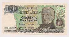 Banco Central Argentina Cincuenta Pesos Banknote--Pristine Condition !!