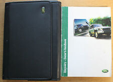 LAND ROVER DISCOVERY HANDBOOK OWNERS MANUAL WALLET 2002-2004 PACK 13269