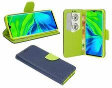 Cuero De La PU Funda Protectora Accesorio Cartera para Xiaomi Mi Note 10 Azul