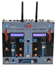 QFX MX-3 Professional 2 Channel  DJ Mixer w/Dual Bluetooth/USB/SD Input