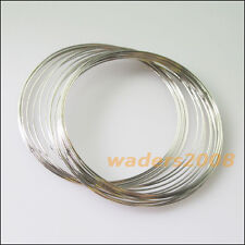 2 New 20Circles / Roll Bangle Bracelet Chain Dull Silver Plated