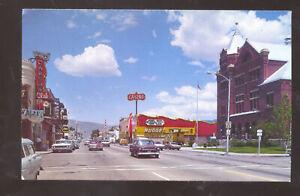 CARSON CITY NEVADA DOWNTOWN STREET SCENE OLD CARS VINTAGE POSTCARD