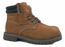 Men's Work Boots Genuine Leather Water Resistant Wheat Black Brown 8601