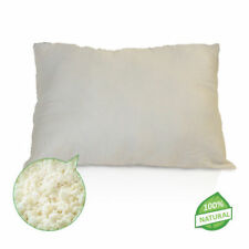 NON-GMO TRAVEL Pillow- Shredded Natural Talalay Latex w/ Organic Cotton Cover!!!