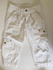 Mary Kate & Ashley Girls Size 8 White Pants W Gold Trim