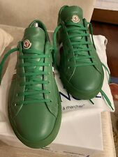 MONCLER La Monaco Leather Trainers Sneakers-Green-Special