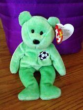 MWMT Ty Beanie Babies KICKS Soccer Bear Retired Plush Animal