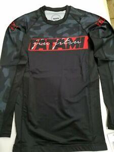 New Tatami Red Bar Camo MMA BJJ Jiu Jitsu Long Sleeve LS Rashguard