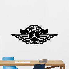 Personalized Air Jordan Wall Decal Basketball Vinyl Sticker Custom Decor 146nnn