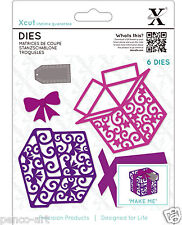 6 pc die set Filigree Christmas Presents Use Xcut or any die cutting machine