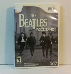 THE BEATLES Rockband -- Nintendo Wii -- EA Games -- Complete with Manual (2009)