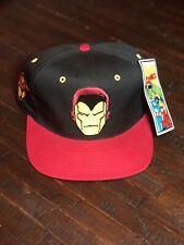 Vintage 1993 Iron Man Snapback Hat Marvel Comics American Needle Blockhead