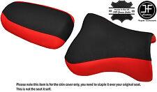 Desgn 2 Negro Rojo personalizado de vinilo cabe Kawasaki ZX9R 98-02 Delantero Trasero Seat Covers