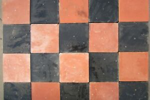 Quarry tiles Black and Red 6x6