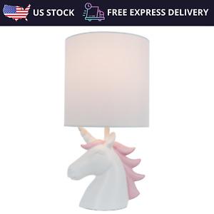 Kids Unicorn Bedside Reading Table Lamp Desk Light Nightstand For Modern Bedroom